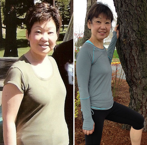 Sue before and after Fit Camp personal training